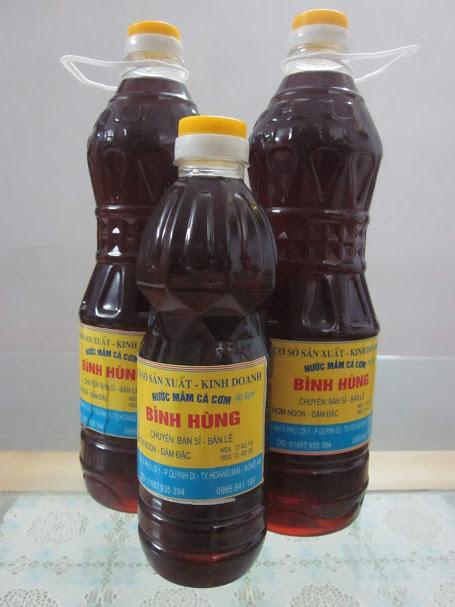 nước mắm cá cơm Quỳnh Dị