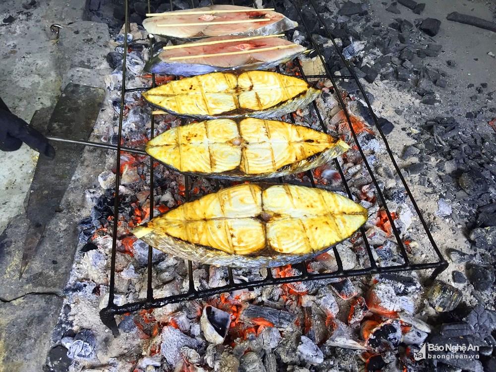 cá thu nướng